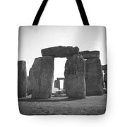 Stonehenge In Black And White Tote Bag