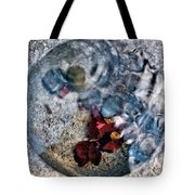Stones And Fall Leaves Under Water-41 Tote Bag
