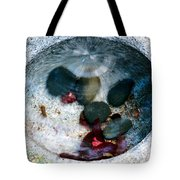 Stones And Fall Leaves Under Water-43 Tote Bag