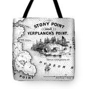 Stony Point Map, 1779 Tote Bag by Granger