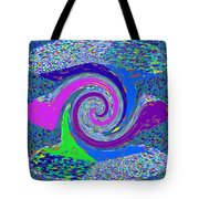 Stool Pie Chart Twirl Tornado Colorful Blue Sparkle Artistic Digital Navinjoshi Artist Created Image Tote Bag