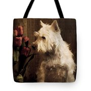 Stop And Smell The Flowers Tote Bag by Edward Fielding