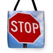 Stop Sign Ireland Tote Bag