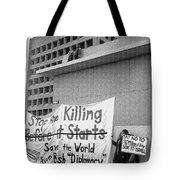 Stop The Killing Say No To Israel Anti-war Protestors Tucson Arizona 1991 Tote Bag