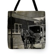 Stopped For A Spell In Sepia Tote Bag