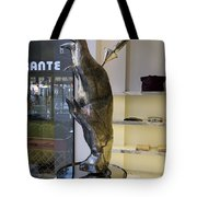 Store Window Art On Champs Elysees In Paris France Tote Bag