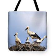 Storks In The Nest Tote Bag