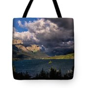 Storm Above St. Mary Lake Tote Bag
