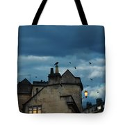 Storm Above Town Tote Bag