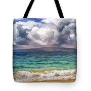 Storm Across The Channel Tote Bag