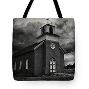 Storm At San Rafael Church Tote Bag