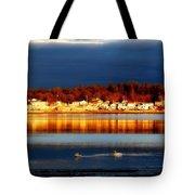 Storm At Sunset Tote Bag