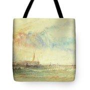 Storm At Sunset, Venice, C.1840 Tote Bag