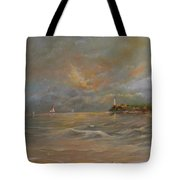 Storm At The Shore Tote Bag