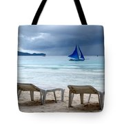 Stormy Beach - Boracay, Philippines Tote Bag
