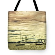 Storm Brewing In Newport Tote Bag