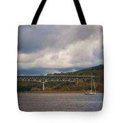 Storm Brewing Over Rip Van Winkle Bridge Tote Bag