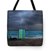 Storm Chairs Tote Bag by Laura Fasulo