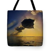 Storm Cloud Over Calm Waters Tote Bag by John Malone
