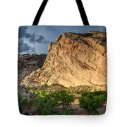 Storm Clouds Above Split Mountain Dinosaur National Monument Tote Bag