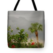 Storm Clouds And Flowers Tote Bag