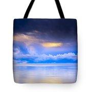 Storm Clouds And Lake Winnipeg At Tote Bag