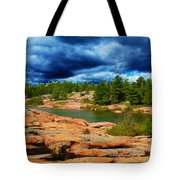 Storm Clouds Approaching Chikanashing Tote Bag