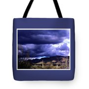 Storm Clouds In The Desert Tote Bag