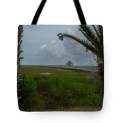Storm Clouds Near Port Lavaca Tote Bag