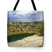 Storm Clouds Over Montezuma Well Tote Bag