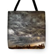 Storm Coulds Over Nyc Tote Bag
