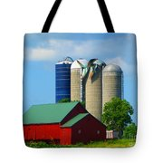 Storm Damaged Silo Roof Tote Bag