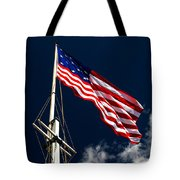 Storm Flag At Fort Mchenry Tote Bag