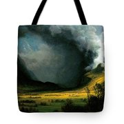 Storm In The Mountains Tote Bag