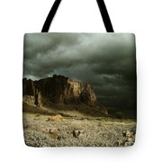 Storm In The Superstitions Tote Bag