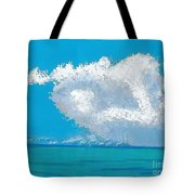 Storm Off The Beach Tote Bag