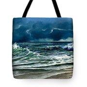 Storm Off Yucatan Mexico Tote Bag