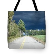 Storm On It's Way Tote Bag