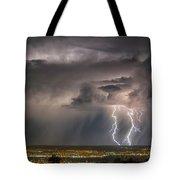 Storm Over Albuquerque Tote Bag