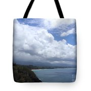 Storm Over Bali Hai Tote Bag