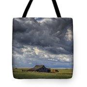 Storm Over Barn Tote Bag