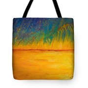 Storm Over Canola Field Tote Bag