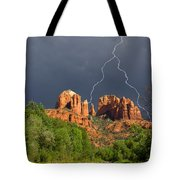 Storm Over Cathedral Rock Tote Bag