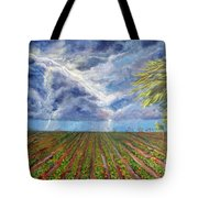 Storm Over Homestead Tote Bag