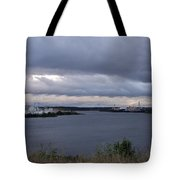 Storm Over Lake Manistee Tote Bag