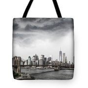 Storm Over Manhattan Tote Bag