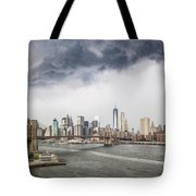 Storm Over Manhattan Downtown Tote Bag