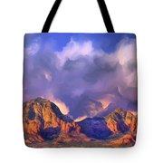 Storm Over Sedona Tote Bag