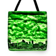 Storm Over The Emerald City Tote Bag by David Patterson