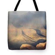 Storm Over The Grand Canyon Tote Bag